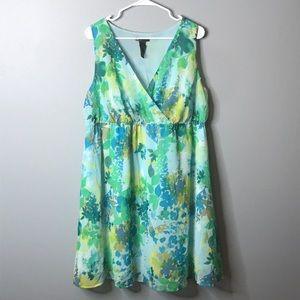 Lane Bryant | floral empire waist dress size 16